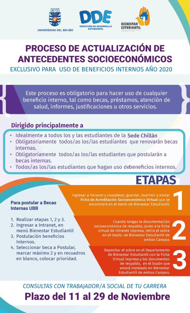 Inicia proceso de Actualización Socioeconómica, beneficios internos 2020