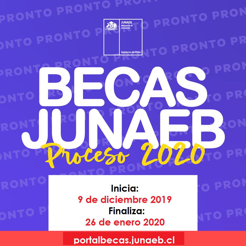 Inicia proceso de renovación/postulación Becas JUNAEB 2020